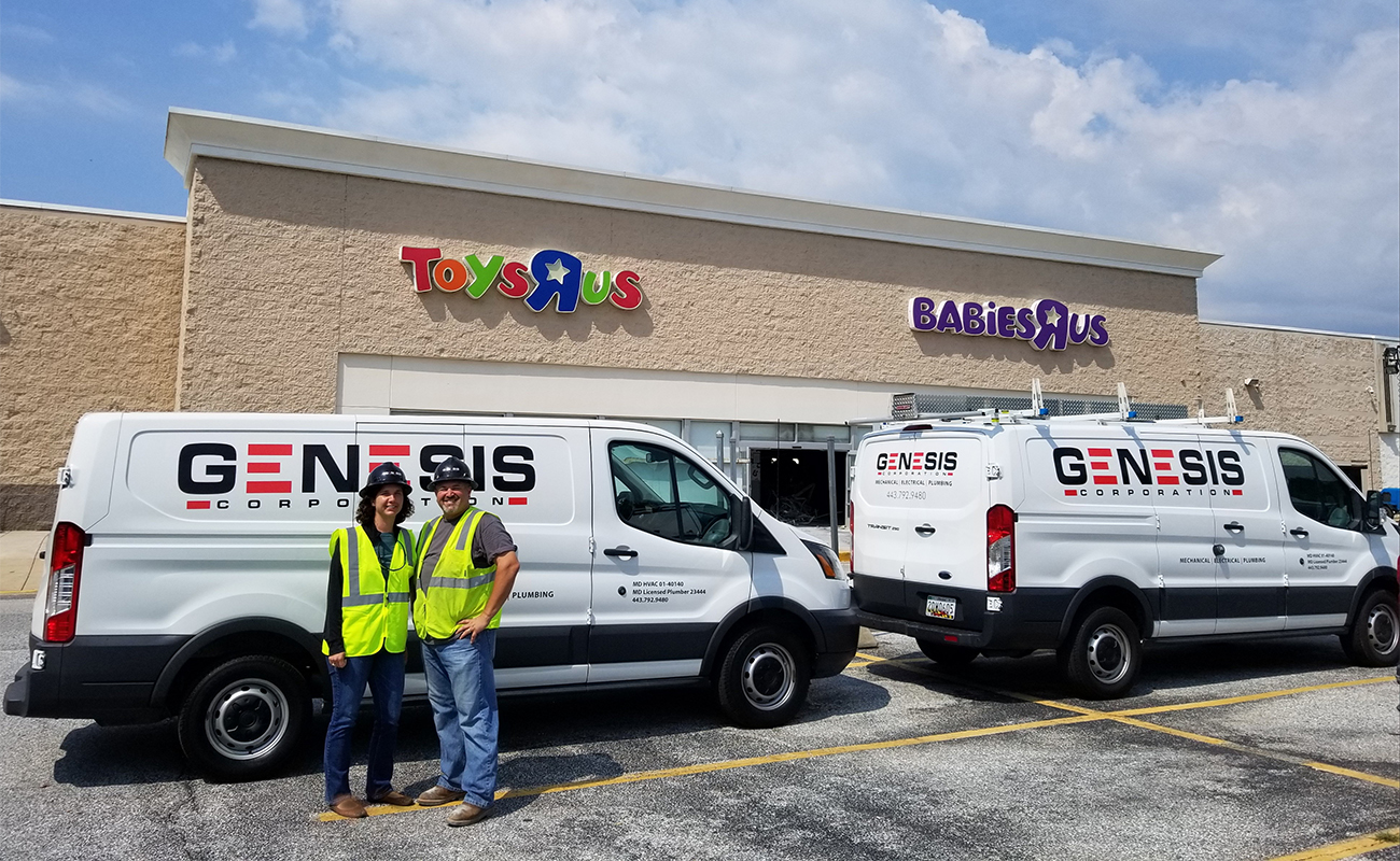 Genesis Corporation performs electrical, plumbing, and gas piping renovations at Baltimore County's first Hobby Lobby location
